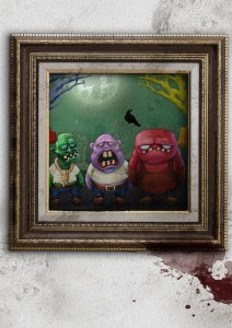 Zombie painting poster