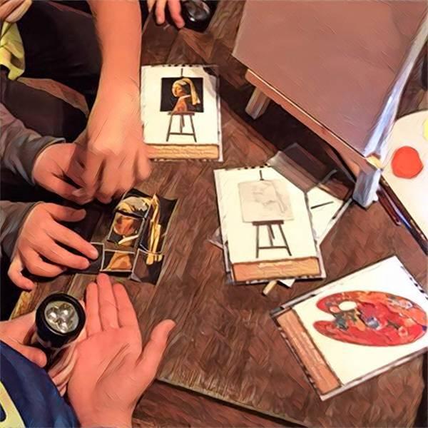 Kids work together