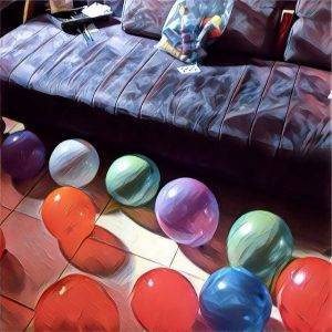 Balloons at a party.