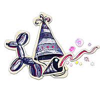 Party hat decal