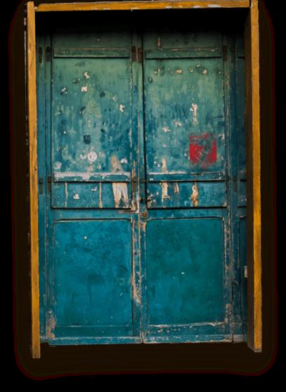 blue-aqua-door