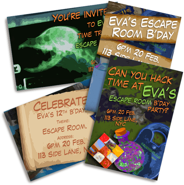 Escape Quest Invitations