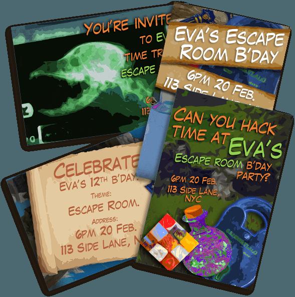 Escape Quest Invitations