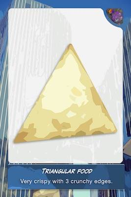 Food triangle card