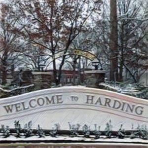 Harding University sign.