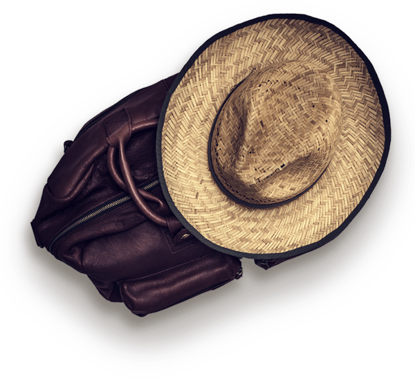 Hat and bag of themes