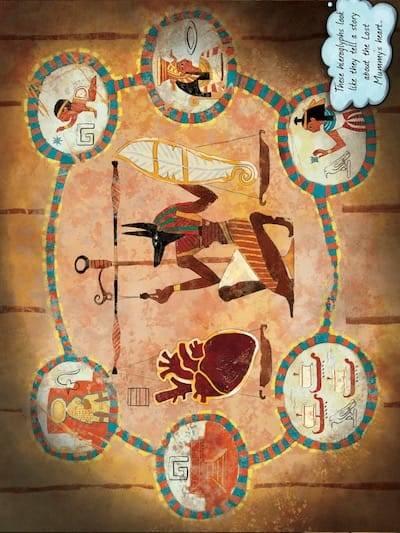 Hieroglyph wall puzzle