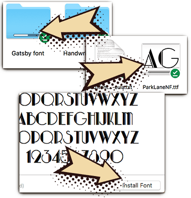 How to install the Envy fonts