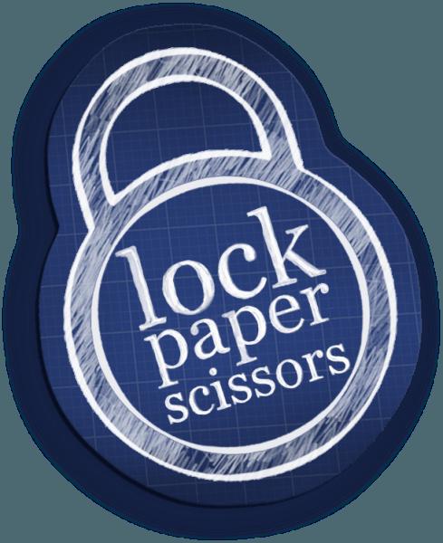 Lock Paper Scissors logo 600px