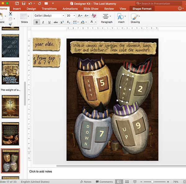 Editing the lost mummy game after