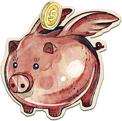 Money back guarantee pig