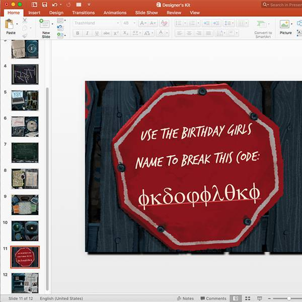 How to edit the escape room kit before printing 2