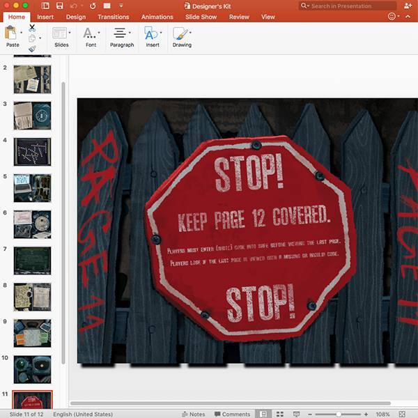 How to edit the escape room kit before printing