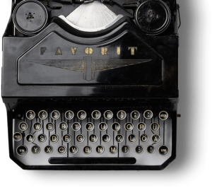 Old black typewriter bkg