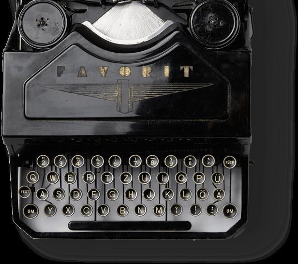 Old black typewriter bkg
