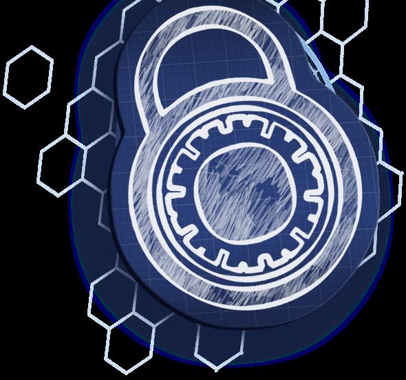Blueprint padlock bkg