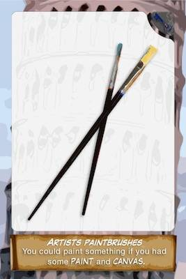 Paint brushes card
