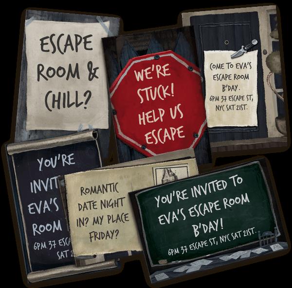 Escape room party invites