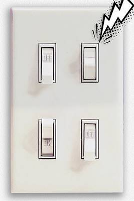 Light switch hint
