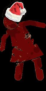 Zombie girl christmas