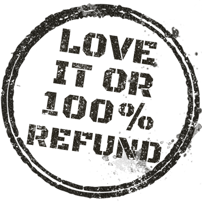 Full money back guarantee decal