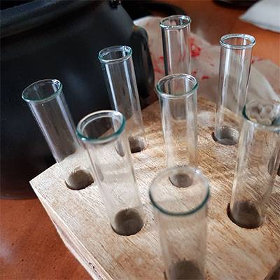 Test tubes in an order