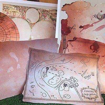 Printable treasure map templates