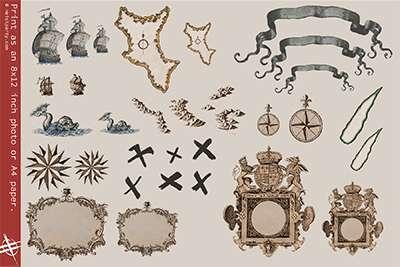 Treasure map X for kids